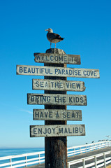 Welcome to Malibu Sign