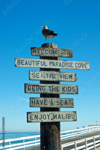 Welcome to Malibu Sign