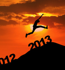 2013 silhoutte jump new year