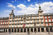 Architecture at Plaza Mayor (Main Square) in Madrid, Spain.
