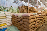 Warehouse and Sacks stacked