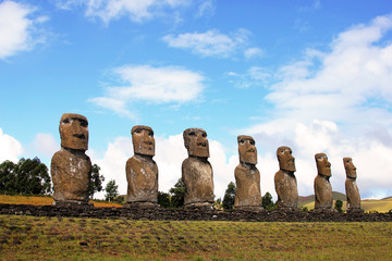 Seven moai platform, Easter Island