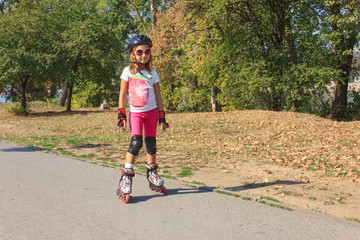 Girl on the rollerblades