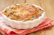 Mushroom, chicken and cheese gratin