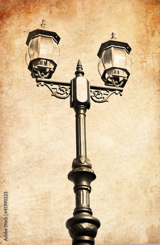 stara-rocznik-fotografia-latarnia-uliczna