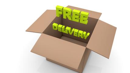 Caja de Carton Free Delivery