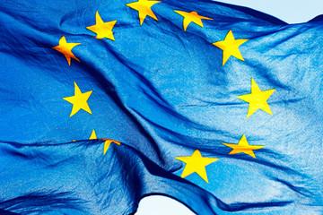 European union flag against the sky