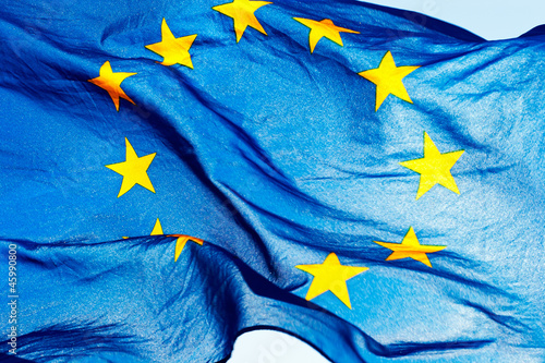 European union flag against the sky