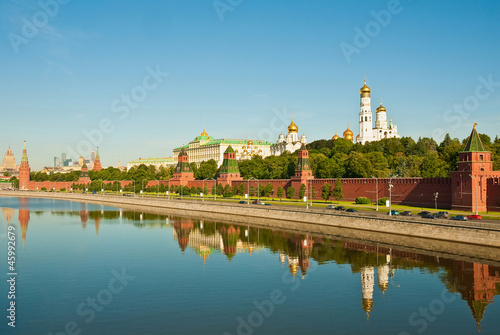Panorama of the Moscow Kremlin, Russia