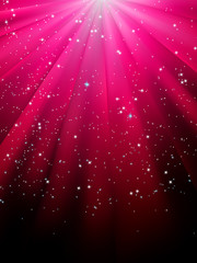 Stars on red striped background. EPS 8