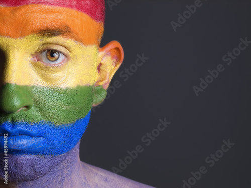 Face man flag gay