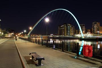 Millennium bridge,newcastle quayside