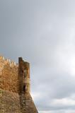 Castillo del Montseny en un dia nublado. Catalunya poster