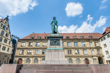 The Schiller memorial in Stuttgart, Germany
