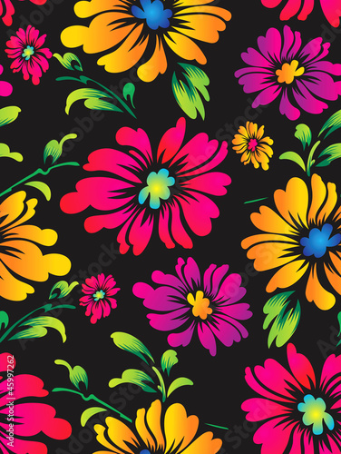 Seamless vector flower background for fabric