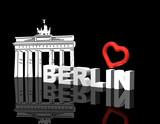 Fototapety Berlin Herz Brandenburger Tor