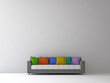 Sofa with color pillows