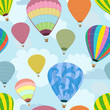 Seamless background of balloons