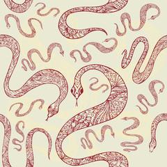 background vintage snake seamless