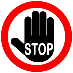 CARTELLO ALT FERMA STOP 02 VETTORIALE