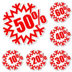Vector discount labels set. EPS 10