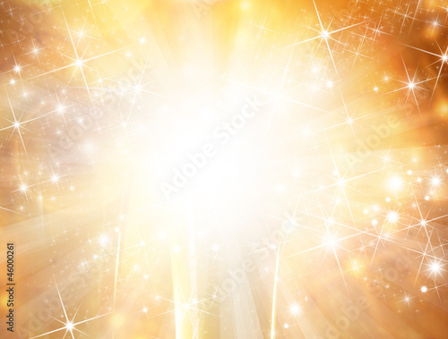 Abstract gold christmas background