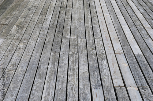 Aged gray wooden terrace floor