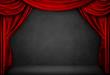 Leinwanddruck Bild - Texture Teatro Grunge
