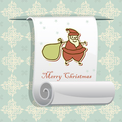 Christmas pattern with roll paper for your greeting