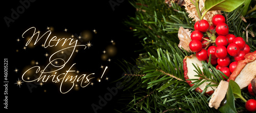 Christmas themed banner with copy space
