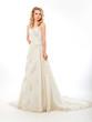 Beautiful pretty bride in  luxurious wedding modern dress