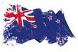 New Zealand Flag Grunge