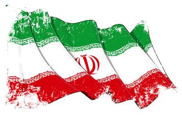 Iranian Flag Grunge