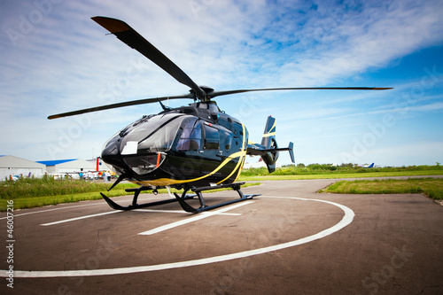 Leinwanddruck Bild Light helicopter for private use