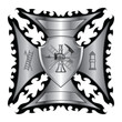 Firefighter Cross Silver With Shield