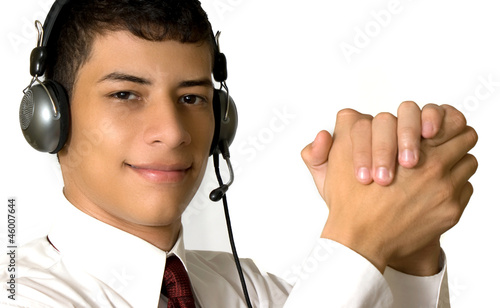 man in a callcenter