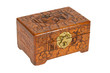 Old wooden chest made in Surinam