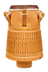 Djembe, Surinam percussion, handmade wooden drum with goat skin,