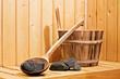 Leinwandbild Motiv Wellness & Entspannung | Sauna Aufguss