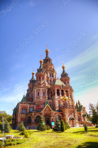 Saint Peter and Paul Cathedral in Peterhof, Russia