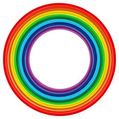 Art rainbow frame abstract vector background
