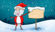 santa claus and board