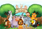 Fototapety zoo and animals