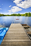 Dock on lake in summer cottage country - Fine Art prints