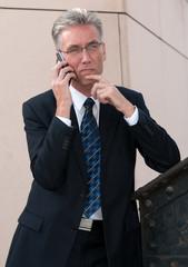 Chef beim Telefonieren