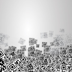 qr code background vector eps10