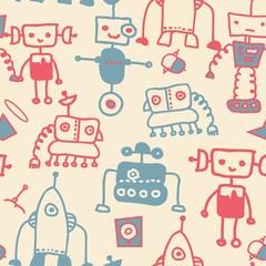 seamless doodle robots