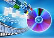 CD / DVD data storage Concept - 46016849
