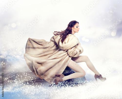 Fototapeten,gestalten,winter,frau,luxury