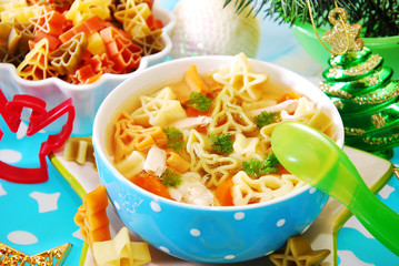christmas chicken soup for child